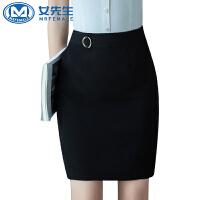 【1件7折 2件6折】2019夏季新款女裙修身半身裙短裙西装裙职业装一步裙A字裙