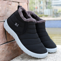 老北京布鞋女冬季棉鞋平底老人软底中老年妈妈保暖加绒奶奶鞋