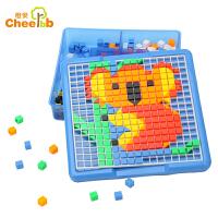 橙爱潜力 美术拼盘490粒 插珠 拼插/拼装积木 儿童益智玩具 3-6岁