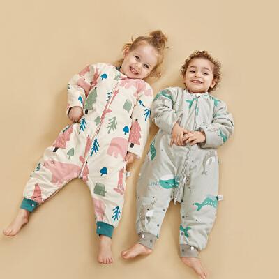babycare宝宝睡袋春秋四季通用防踢被纯棉幼儿童分腿睡袋