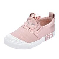 女童帆布鞋�和�����休�e鞋幼��@�底鞋�底室�韧�鞋