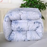 新品被子冬被棉被冬被芯加厚冬被春秋被厚棉被保暖冬被子双人10斤8斤定制 浅蓝色 欧式玫瑰-蓝