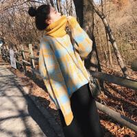 高领毛衣女2018秋冬新款宽松网红慵懒风套头 的上衣韩版潮