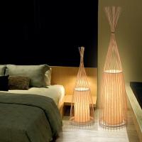 创意客厅卧室新中式落地灯简约竹艺灯具日式书房实木竹编落地台灯