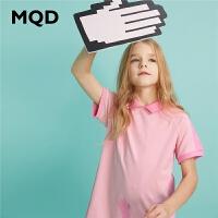 【2件3折:114】MQD童装女童连衣裙2020夏季新款撞色印花运动儿童裙子POLO洋气裙