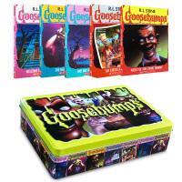 顺丰发货 英文原版 Goosebumps Limited Edition 鸡皮疙瘩(5册)限量版 儿童英文绘本 图画故事书 小说25周年 送环保袋