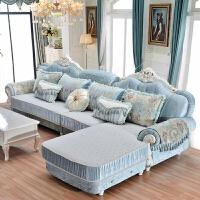 【新品热卖】欧式布艺沙发组合法式大小户型贵妃L转角客厅整装简欧沙发