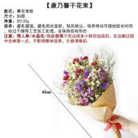 康乃馨干花花束 真花干花花瓶套装 母亲节礼物 客厅装饰干花 干花包