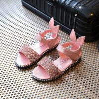 中小童沙滩鞋子小女孩儿童鞋女童凉鞋2019新款夏季韩版宝宝公主鞋