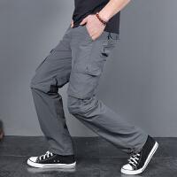 户外休闲速干裤男宽松直筒多口袋登山裤男士可拆卸两截长裤