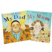 英文原版绘本 我爸爸我妈妈My Dad My Mum 安东尼・布朗代表作 儿童亲子绘本早教启蒙认知故事书