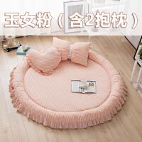 韩版全棉宝宝爬行垫加厚婴儿客厅地垫儿童游戏垫爬爬垫春夏可拆洗MYZQ12 直径1.5m左右