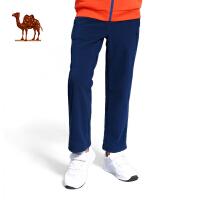 camel骆驼户外童款抓绒裤 秋冬新款舒适保暖儿童抓绒裤
