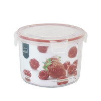 乐扣乐扣保鲜盒NLP321R 1.3L加热微波圆形塑料餐盒便当盒饭盒 红色