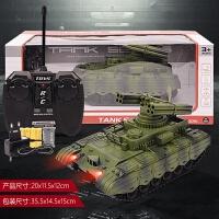 充电遥控坦克大型充电仿真坦克玩具遥控车汽车履带式坦克模型男孩玩具礼品 收藏加购送充电套装