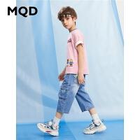 【2件3折:150】MQD童装男童七分牛仔裤2020夏新款中大童儿童休闲短裤
