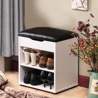 新品储物换鞋凳 鞋柜 玄关 现代简约田园简易鞋架小鞋柜式穿鞋凳脚凳