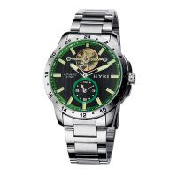 2018年新款 EYKI/艾奇 镂空全自动机械男式手表 8562 绿圈黑盘钢带