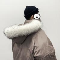 男士外套冬季新款韩版潮面包服冬装短款衣服羽绒棉袄棉衣 灰色 M