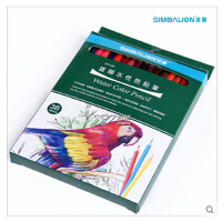 台湾雄狮彩色铅笔 彩铅 24色36色48色水溶性纸盒装彩铅漫画绘画用