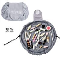 便携式懒人抽绳化妆包 创意旅行用品收纳包大容量洗漱包