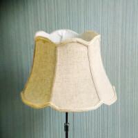 台灯罩外壳 台灯灯罩外壳罩落地灯立式床头灯罩壁灯亚麻布艺灯罩配件B 香槟色 亚麻欧式罩φ30cm