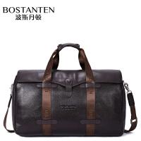 (可礼品卡支付)波斯丹顿 头层牛皮 商务旅行包 手提单肩包大容量 时尚B10043