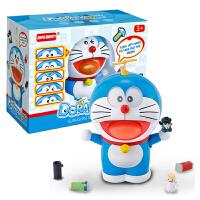 哆啦A梦 叮当猫模型摆件男孩玩具 百宝箱取东西 蓝色叮当猫+礼袋