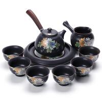 百里唐陶瓷窑变整套功夫茶具套装日式泡茶茶壶茶漏公道杯家用礼盒