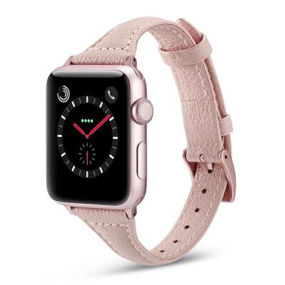 适用apple watch4表带苹果手表表带42mm38iwatch4/3/2/1潮男女series4皮表带配件 默认发42mm长款。其他长度联系客服