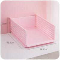 衣柜分隔分层收纳盒抽屉式整理箱衣服宿舍省空间家用多用塑料 加厚/抽屉式