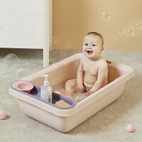 babycare宝宝洗澡盆可坐躺 新生儿宝宝沐浴盆大容量儿童小孩浴盆