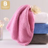 婴儿口水巾洗澡巾柔儿童小方巾34*80婴儿毛巾宝宝洗脸巾