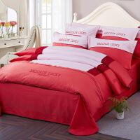 床单被罩被套四件套纯棉1.8m床双人1.5m床4件套床上用品四件套定制