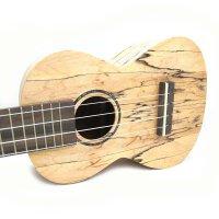 (货到付款)Ashtons 23寸 尤克里里  乌克丽丽 ukulele 小四弦琴 夏威夷小吉他 天然 黑色天然地图纹 贝壳镶嵌 包边 意大利AQUILA琴弦 贝壳镶嵌 UKE500SPM(827)  送(琴套+3个拨片+教程一本+套弦)
