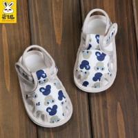 0-1岁男宝宝不掉鞋软底凉鞋夏季6个月婴儿布鞋婴儿学步鞋
