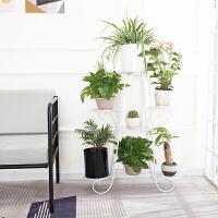 阳台多功能北欧花架子铁艺多层绿萝吊兰地面客厅室内落地花盆架