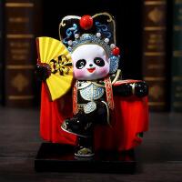功夫熊猫摆件中国特色出国礼品送老外小礼物 京剧脸谱四川