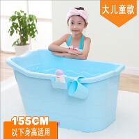 20190702061037058婴儿浴盆儿童浴桶大号加厚可坐躺宝宝洗澡桶超大保温塑料沐浴桶