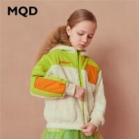 【折后券后�A估�r:150】MQD童�b女童加厚�_衫�l衣2020冬�b�和�保暖仿羊羔�q百搭撞色�l衣