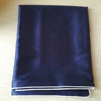 真丝枕套单人枕用单面夏季女丝绸美容枕头巾一对拍两个定制 38姆米 藏青色 48cmX74cm
