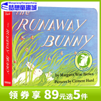 【78�x3】#逃家小兔 英文原版�L本 The Runaway Bunny �板�� 廖彩杏���� �敲籼m 同�黾佑� 名家推�]