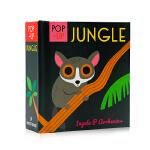 启蒙立体小书 丛林 Pop-up Jungle 英文原版绘本 认知识物早教启蒙绘本 低幼英语启蒙学习 亲子互动游戏书