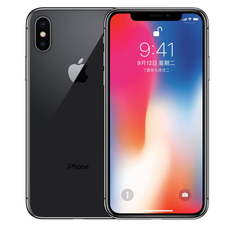 Apple iPhone X 64G 深空灰色 支持移动联通电信4G手机国行正品,可使用礼品卡支付
