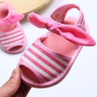婴儿学步鞋女夏2019新款儿童凉鞋1-3岁男软底鞋公主宝宝布凉鞋