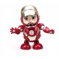 复仇 跳舞钢铁侠机器人漫威系列灯光音乐电动玩具3个起售