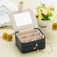 便携式首饰盒 小巧简约耳环耳钉戒指饰品收纳珠宝盒子