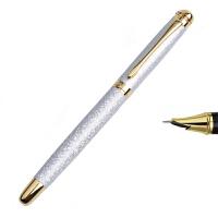 永生钢笔 练字钢笔铱金尖【磨砂银笔杆】 0.5mm 钢笔画专用行书钢笔字帖行楷 特细钢笔成人办公硬笔书法9120