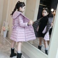 【品牌秒��r:109】女童棉衣2020新款冬�b�和��n版�p色收腰棉服洋�饧雍裢馓准娱L棉�\