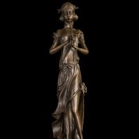 工艺品摆件 礼品 欧式铜雕 家居酒店装饰 吹笛少女 * 礼物 装饰摆件 创意家居 吹笛少女